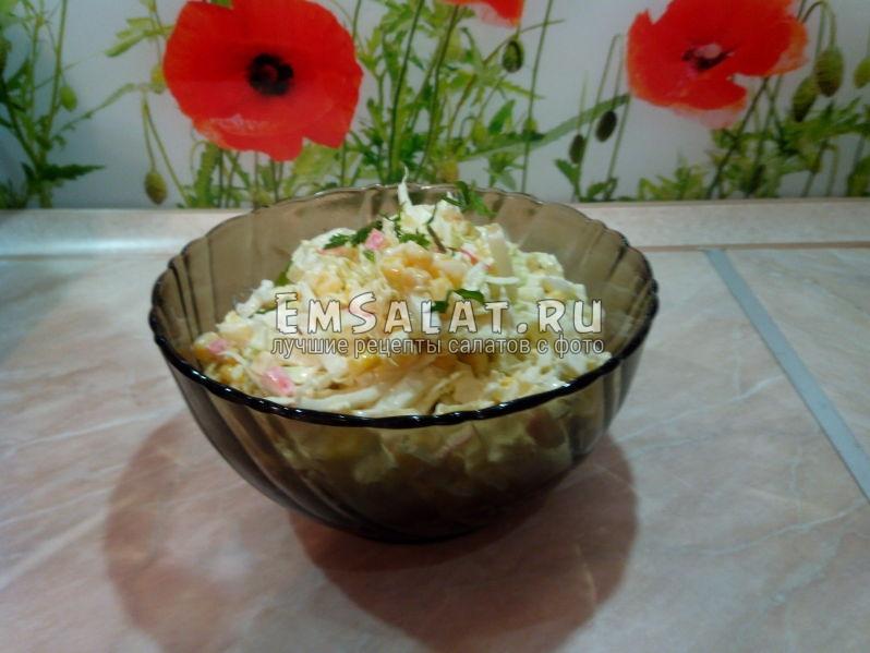 Вот и готов наш салат последние штрихи художника.