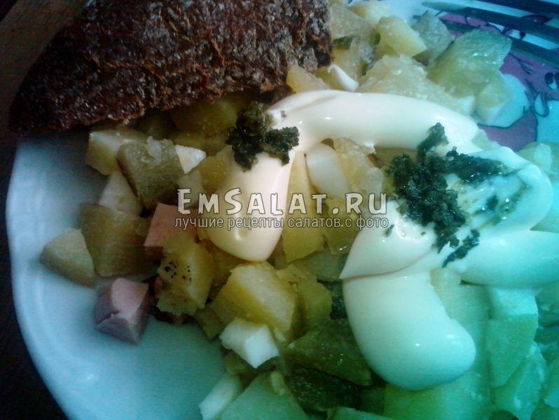 Готовый салат зимний классический рецепт с фото