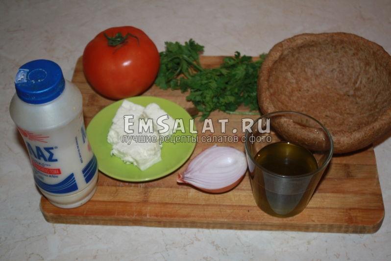 ингредиенты входящие в состав салата