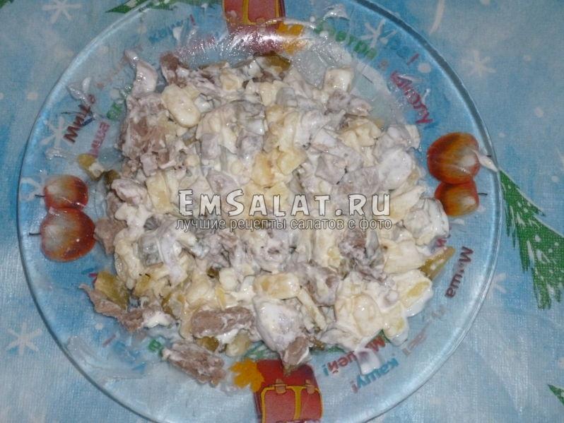 салат мясной рецепт