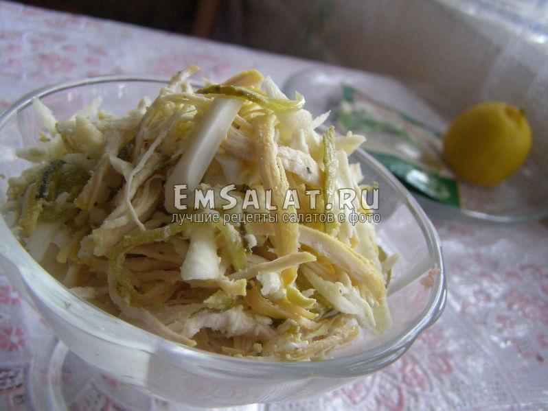 салат из сельдерея и куриной грудки
