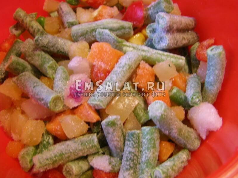овощи из морозилки