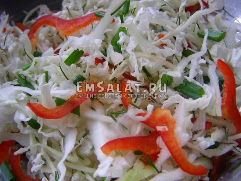 ингредиенты в салатнице