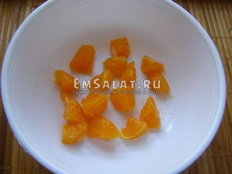 мандарин нарезан
