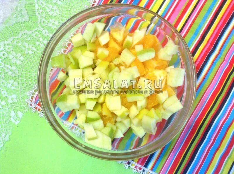 Яблоки, банан, апельсин