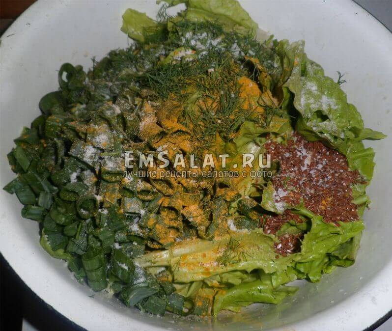 Заготовка для салата