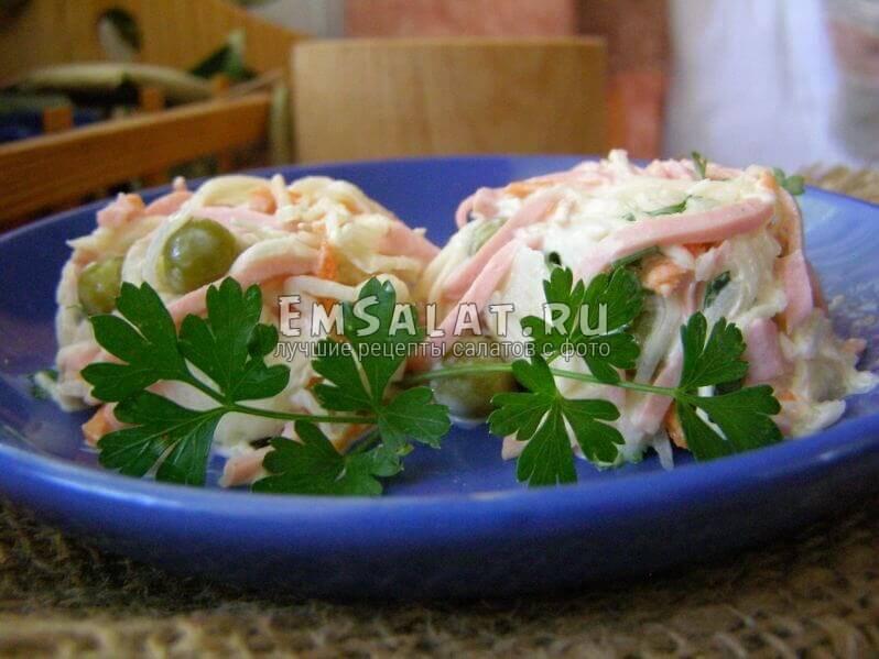 салатик в тарелочке