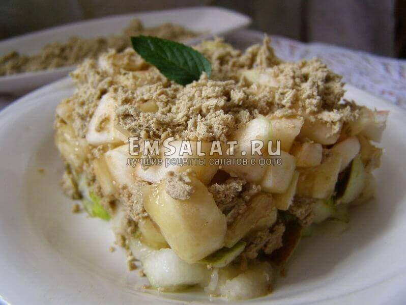 салат в блюдце