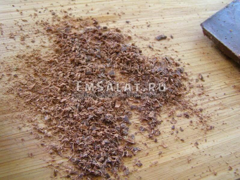 натертый шоколад
