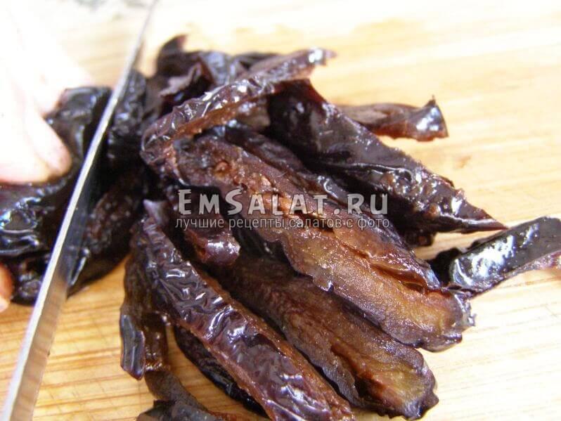 нарезанный чернослив