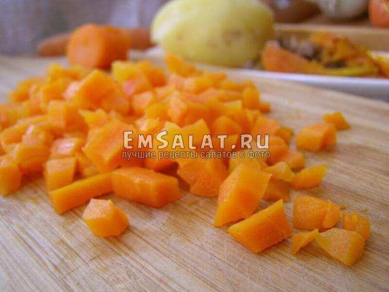 кусочки моркови