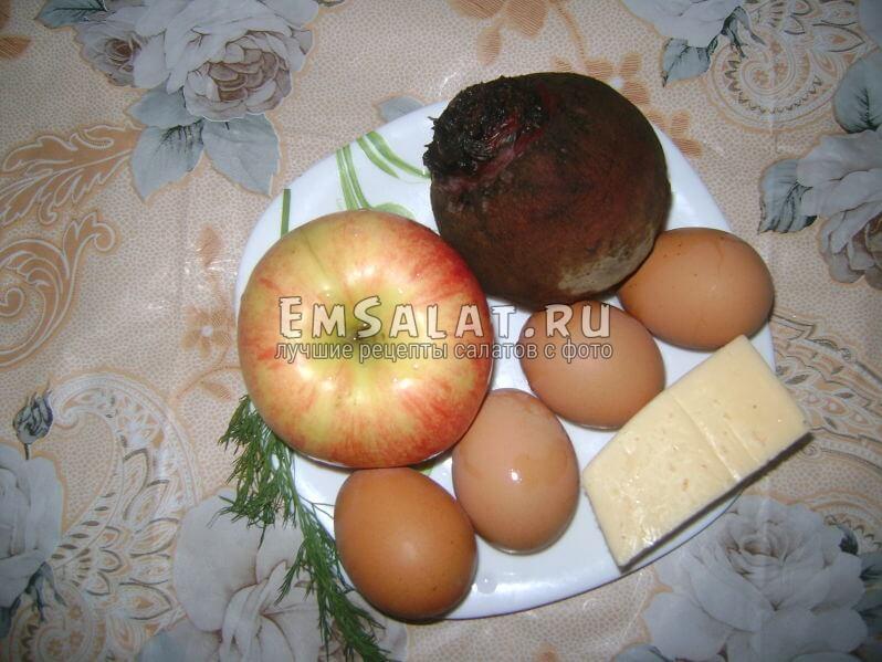 Ингредиенты к салату Французская женщина