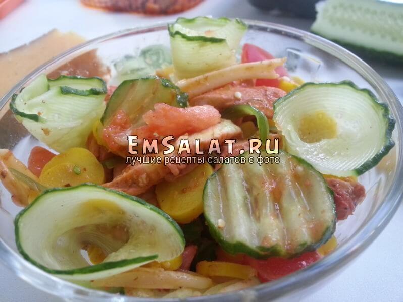 салат с вкусной телятиной