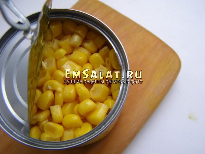 кукуруза консервированная